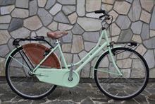 Bicicletta Milani Art Bike artigianale donna azzurra