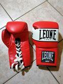 Ri guantoni boxe leone 10 Oz red lacci